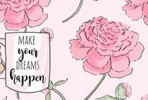 Heather Stillufsen / I'm a huge fan of Heather Stillufsen, she creates the most gorgeous prints with just the right sayings. Totally says it with words and pictures. #artist #positivewords #heatherstillufsen #rosehilldesigns #positiveart