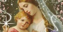 Mother and child, Madonna, mother Mary and Jesus, Child and guardian angel / The love, connection and magic between mother and child.