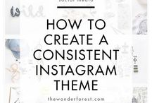 Beautiful Instagram Feed / Have you ever looked longingly at those beautiful Instagram feeds? The ones that just seem to be a perfect coordination of style, colour and photography. Need some tips on how to create a cohesive Instagram theme?