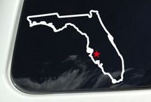 Florida Outline Map / Florida Outline Map Decal - Florida State Outline - Window Sticker Decal