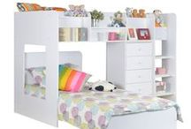 Children's Flair Beds / A new minimalistic children's bed brand that utilise the design to incorporate storage drawers and shelves, perfect for space saving.