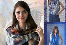 Wearable Art / Art-based scarfs, bags, and other accessories. Designer jewellery.