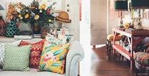 ECLECTIC STYLE INTERIORS / Eclectic style interiors with gorgeous colours and textures. #eclecticstyle #eclectic