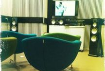 Public library of Tampere, listening rooms. / Public libraries of Tampere. Metso's music department have the first surround sound home theater system.  Second one at Lielahtikeskus, up and running from MAY 19th...