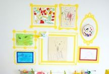 Displaying Children's Art / Unique and fun ways to let your children's art shine throughout your personal space.