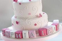 Ava's christening cake ideas