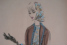 Fashion Illustration/Vintage Design Illustration / by Digital Dorkette Dolls