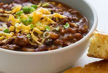 Chili & Soup Recipes / Recipes for soups, chilis, gumbos, and anything you might serve in a bowl and eat with a spoon.