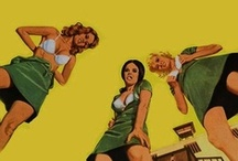 Pulps and Racy Mid-Century Illustrations, Photos and Art