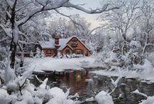 Winter Time / Tout ce qui a trait à la saison d'hiver..... froid, neige, flocons, se blottir dans des vêtements chauds, boire un chocolat au coin du feu.... / by France . emilyblue.canalblog.com