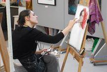 Making Art / People making art.