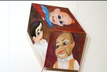Halloween. This is a bit creepy! / Details of artworks from Nolan Gallery