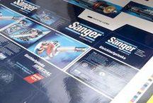 Sanger Package: Gleichlaufgelenke. / Sanger CV-Joint cardboard packaging.
