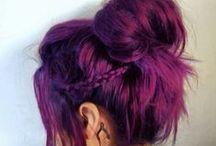 Coloured hair.