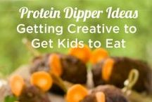Foods to Dip / Check out these foods to dip to get even the pickiest eater to eat. Make foods fun by dipping them.