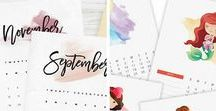 Printables / Amazing printables - calendars, organizers, art and more