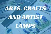 Arts, Crafts & Artist Lamps / We sell a variety of Daylight Artist #Lamps which are perfect for a variety of tasks, including #painting, #embroidery, #quilting, #drawing and general crafts. Here you can find a selection of our Daylight Artist Lamps and our favourite #arts and #crafts photos.