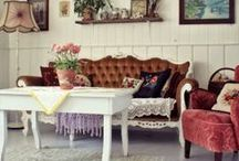 vintage chic / thrift shop style, granny chic, vintage & eclectic homes