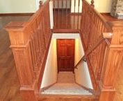 Stairs - Standards and Options / Showcasing standard stairs with carpet as well as options to include Oak treads
