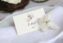 Place Cards / From name cards to escort cards. From simple to sophisticated designs. From budget to luxurious - all wonderful!