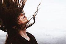 "{hair} / ""embrace messy hair, darling."""