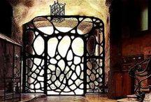 Камины, каминные решетки, Ковка Fireplace / Каминные решетки Кружева из металла / by Irina Рavlova