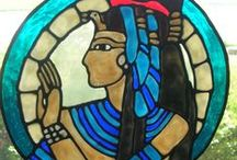 Egypt & Africa / Gods and goddesses, ankhs and pharaohs, Eye of Horus and scarab beetles.