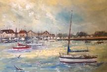 My paintings / I work in a variety of mediums and try to portray atmosphere and tell the story through my work
