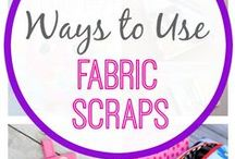 Scrap Happy / Looking for a project idea to use up your fabric scraps? Try one of these crafty and creative projects. Find out the amazing items that can be made all through our extra fabric scraps. #fabricscraps #diycrafts #sewing #creativeideas
