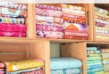 Fabric Organization Ideas / Whether it is just our fabric or supplies, our projects can lead to a lot of clean up. Follow our board and grab helpful tips to keeping organized, no matter the budget or time.  #organization #fabricstorage #fabricorganizing
