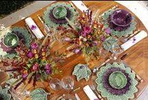 Mesas Decoradas / Mesas decoradas para almoços e jantares em casa com muito carinho e detalhes que trazem charme e funcionalidade para os convidados!