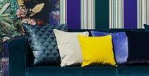 Interieur Trends 2017 - Blauw & Goud / Blauw & Goud zijn de interieurtrends van 2017. Dit bord toont een aantal inspirerende voorbeelden. Kom voor meer inspiratie naar Interieur Paauwe in Zonnemaire.
