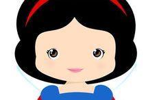 Branca de Neve / Snow White Party Decoration