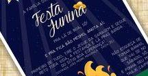 Convites Digitais - Festa Junina