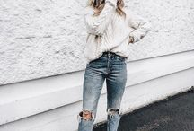 | Fall Fashion | / Modern Street Style + Casual outfits + Fall Trends + Cozy Sweaters