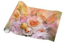 Art Gift Wrap / The art of Carol Cavalaris on wrapping paper.
