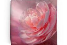 Floral Art Tote Bags / Tote Bags featuring the floral art of Carol Cavalaris.