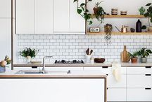 | Kitchen Design | / Kitchen | Minimal + bright kitchen decor inspiration + kitchen backsplash + kitchen setup