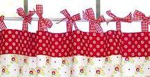 Zasłony na troczkach / bow straps curtains / Troczki, kokardki, paseczki to upięcie folkowych zasłon kuchennych, romantycznych firanek w sypialni, czy dziecięcych wariacji kwiatowych - szybki sposób na lekką dekorację okienną z przymrużeniem oka