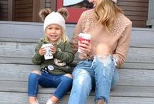 | Mom Style | / Everyday casual Mom Style + Mommy and me looks + Mom Life + Outfit inspo for Mothers + Motherhood outfits + Mama Street Style looks