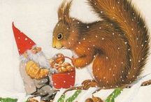 GNOMES,  NISSE ,KABOUTERS,& TOMTE / by N. Draper