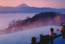 Japanese hot spring -onsen-