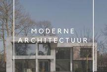 Moderne architectuur / Moderne woningen en architectuur. Inspiratie voor een modern huis.