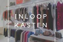 Inloopkasten / Inspiration for walk-in closets and open wardrobes. Inspiratie voor dressings. Veelal open dressings en inloopkasten omdat in moderne woningen tegenwoordig meestal een aparte dressingsruimte voorzien wordt. http://dressaway.com
