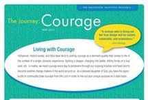 The Journey: Courage / The Journey is a fun and educational independent study designed to help Christian women find their purpose and enact positive change in their families, communities, and the world. If you're ready to gain understanding about your true identity and purpose, and if you're ready to enact positive change in your family, community, and the world, then you're ready for The Journey! / by The Enlighten Foundation