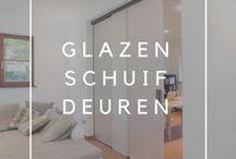 Glazen schuifdeuren / Overzicht van verschillende realisaties met glazen schuifdeuren op maat van Anyway Doors.
