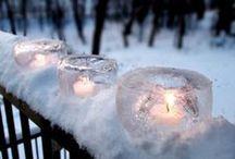 """Mariage ♡ Hiver / L'hiver, son atmosphère romantique, son ambiance poétique... cette saison qui autrefois était plutôt esquivée des futurs mariés devient plus que jamais à la mode pour se dire """"Oui""""."""