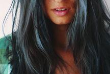 Blue jeans hair / Hair that's been coloured blue