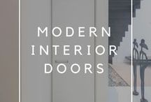 Modern interior doors / Modern interior doors, custom-made by Anyway Doors in Belgium.  Our doors include many innovative features: adjustable swing direction and hinge side, integrated ventilation, minimal aluminium door frames and a collection of popular built-in handles.  All our products are fully finished with maintenance free materials such as anodized aluminium, hightech coated steel, Resopal Massiv and glass.