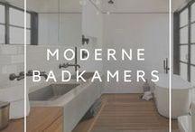 Badkamers / Inspiratie bord met foto's van moderne badkamers